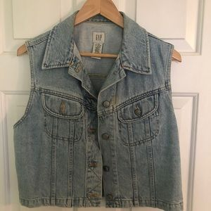 Vintage GAP faded denim  jean vest-medium